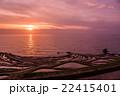 千枚田 棚田 夕日の写真 22415401