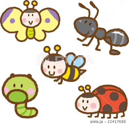 昆虫イラスト素材セットのイラスト素材 22417680 Pixta