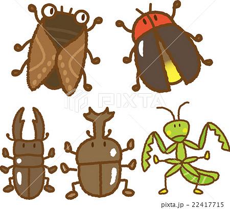 昆虫イラスト素材セットのイラスト素材 22417715 Pixta