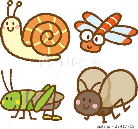 昆虫イラスト素材セットのイラスト素材 22417719 Pixta