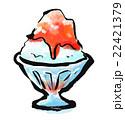 筆描き 食品 かき氷 22421379