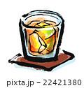 筆描き 飲み物 ウィスキー 22421380