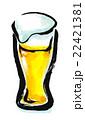 筆描き 飲み物 生ビール 22421381