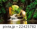 千葉県 亀岩の洞窟(濃溝の滝) 朝日の光芒 22425782