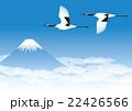 鶴 富士山 鳥のイラスト 22426566