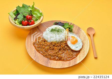 キーマカレー(ドライカレー/挽肉のカレーライス)のイメージ。 22435124