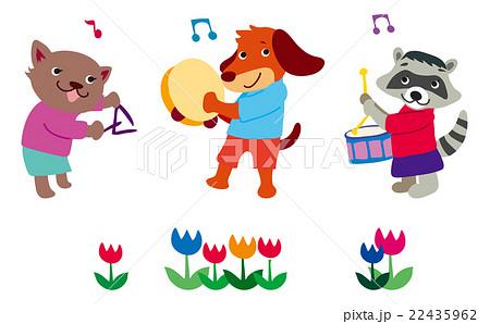 動物達の音楽会のイラスト素材 22435962 Pixta