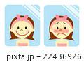 顔の赤みを気にする女性 22436926