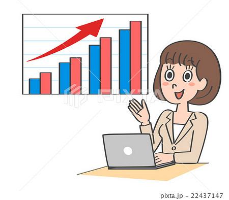 女性 パソコン グラフ 22437147