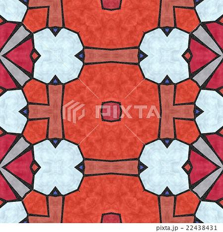 orange red marble mosaic seamless backgroundのイラスト素材 [22438431] - PIXTA
