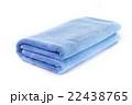 Light Blue soft bath towel isolated on white 22438765