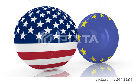 USA EU friendship discsのイラスト素材 [22441134] - PIXTA