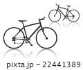 クロスバイク シルエット×2 ダークグレー 22441389