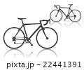 ロードバイク シルエット×2 ダークグレー 22441391
