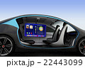車 自動車 シートのイラスト 22443099