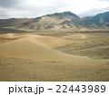 砂漠にできた三日月形の砂丘 22443989