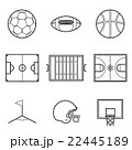 Soccer football and basket ball line Illustration  22445189