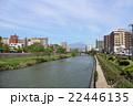 北上川と岩手山 22446135
