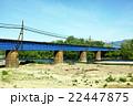 初夏の置賜白川と鉄橋 22447875