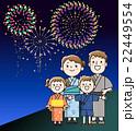 家族 浴衣 ベクターのイラスト 22449554