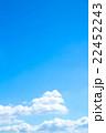 空 青空 白い雲の写真 22452243