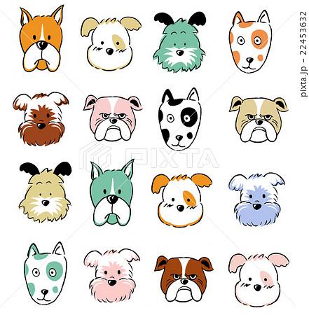 犬の顔イラストのイラスト素材 22453632 Pixta