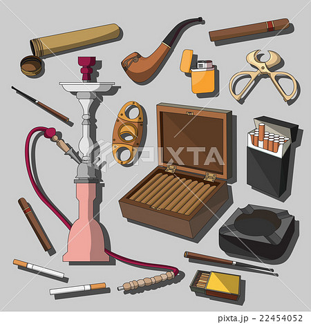 Cigarettes, Cigars and Smoking Accessories のイラスト素材 [22454052] - PIXTA