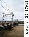 鉄橋と河川敷 22457912