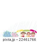 梅雨 あじさい 小学生女の子 22461766