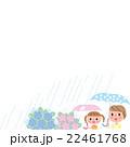 梅雨 あじさい 親子 22461768