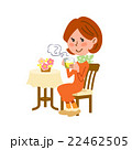 冷え性対策 生姜湯を飲む女性 22462505