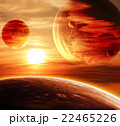 Beautiful sunset, cloud and planet 22465226