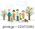 家族 三世代 笑顔のイラスト 22471381