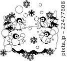 みんなで楽しく雪合戦で遊ぶ赤ちゃんペンギン 22477608