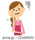 主婦 女性 困るのイラスト 22480002