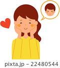 恋する女性 22480544