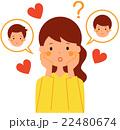 恋に悩む女性 22480674