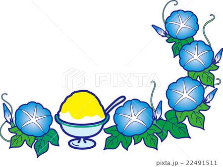 朝顔とかき氷レモン 夏のスイーツ 22491511