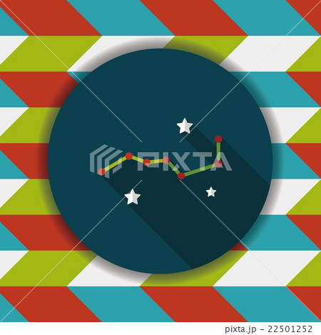 Space dipper flat icon with long shadow,eps10 22501252