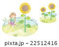 子供 水やり 向日葵のイラスト 22512416