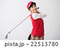 ゴルフウエアの女性 22513780