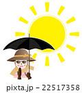 日傘 女性 UV対策のイラスト 22517358