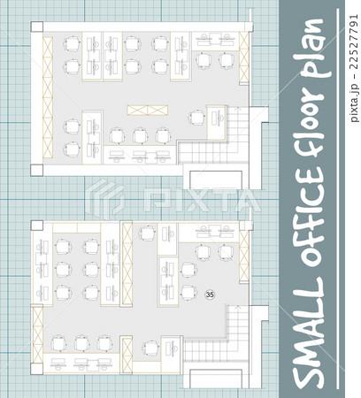 Standard office furniture symbols setのイラスト素材 [22527791] - PIXTA