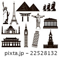 World landmarks silhouettes elements set. Vector 22528132