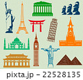 World landmarks silhouettes elements set. Vector 22528135