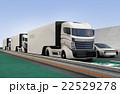 高速道路 トラック 乗り物のイラスト 22529278