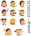 小学生 表情 ベクターのイラスト 22534125