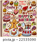 ケーキ 落書き ノート カラー 22535090