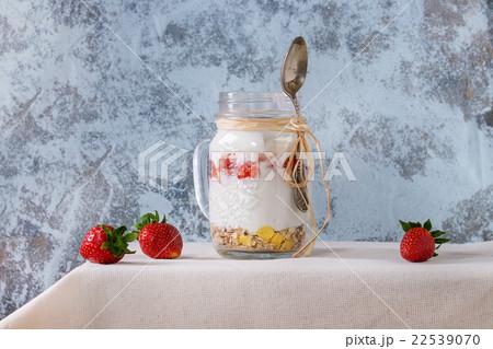 Breakfast with muesli and yoghurtの写真素材 [22539070] - PIXTA