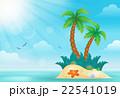 島 浮かぶ島 トロピカルのイラスト 22541019